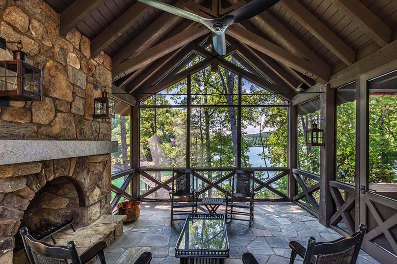 rustic-lake-house-sunroom