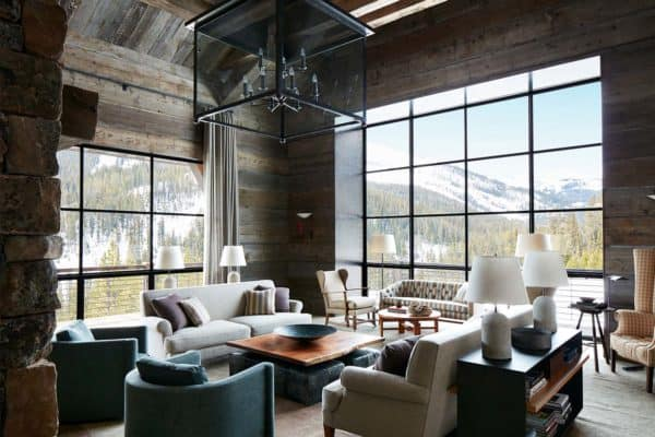 featured posts image for Montana ski house with stylish details frames the Rocky Mountains