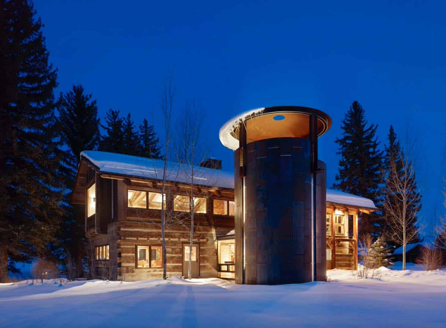 rustic-lodge-house-exterior-with-wine-silo