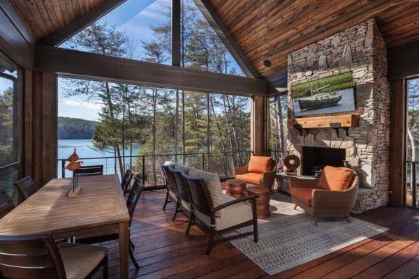 featured posts image for Rustic lakefront retreat with luxurious details on shores of Lake Keowee