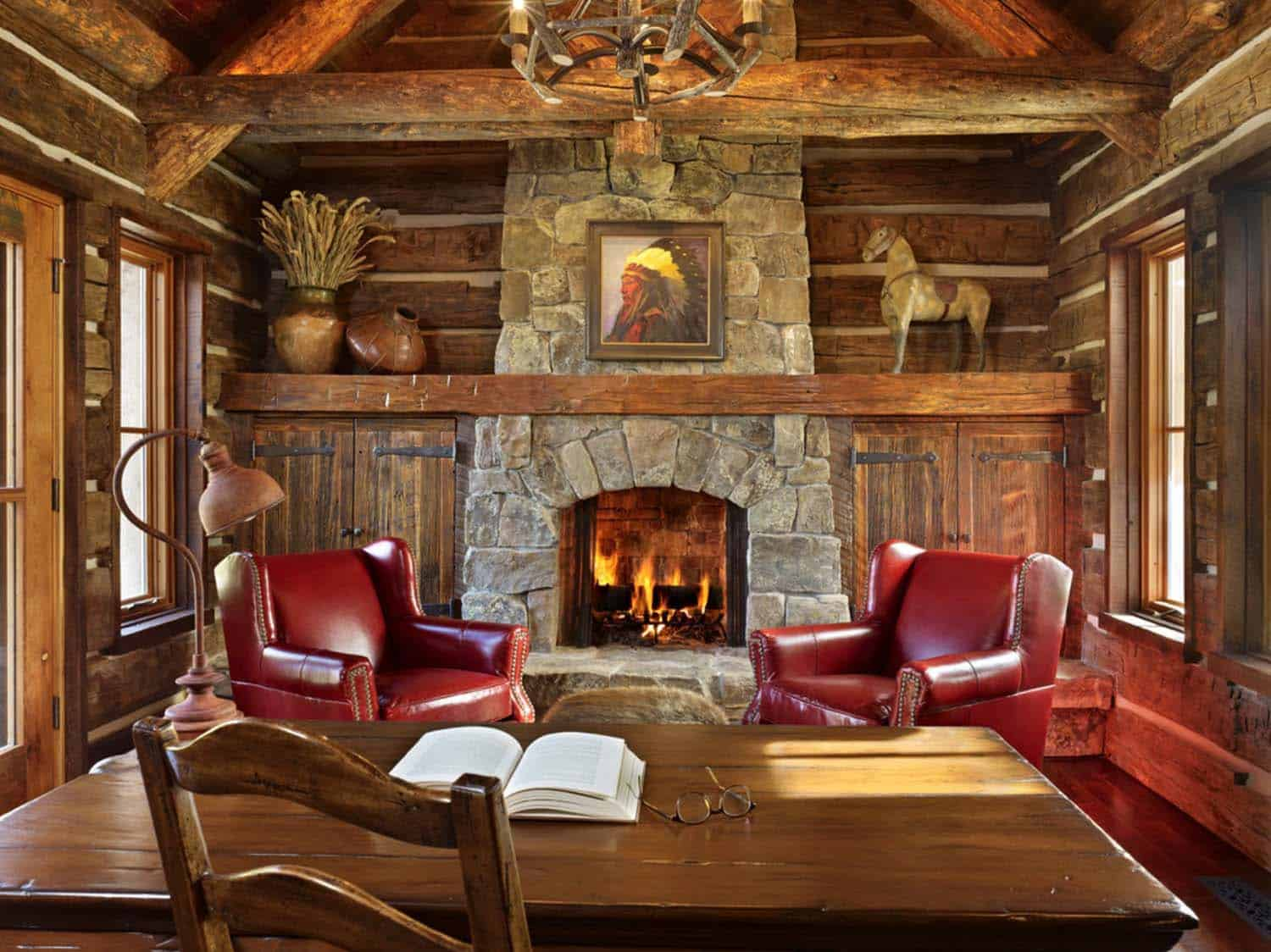 mountian-retreat-rustic-home-office