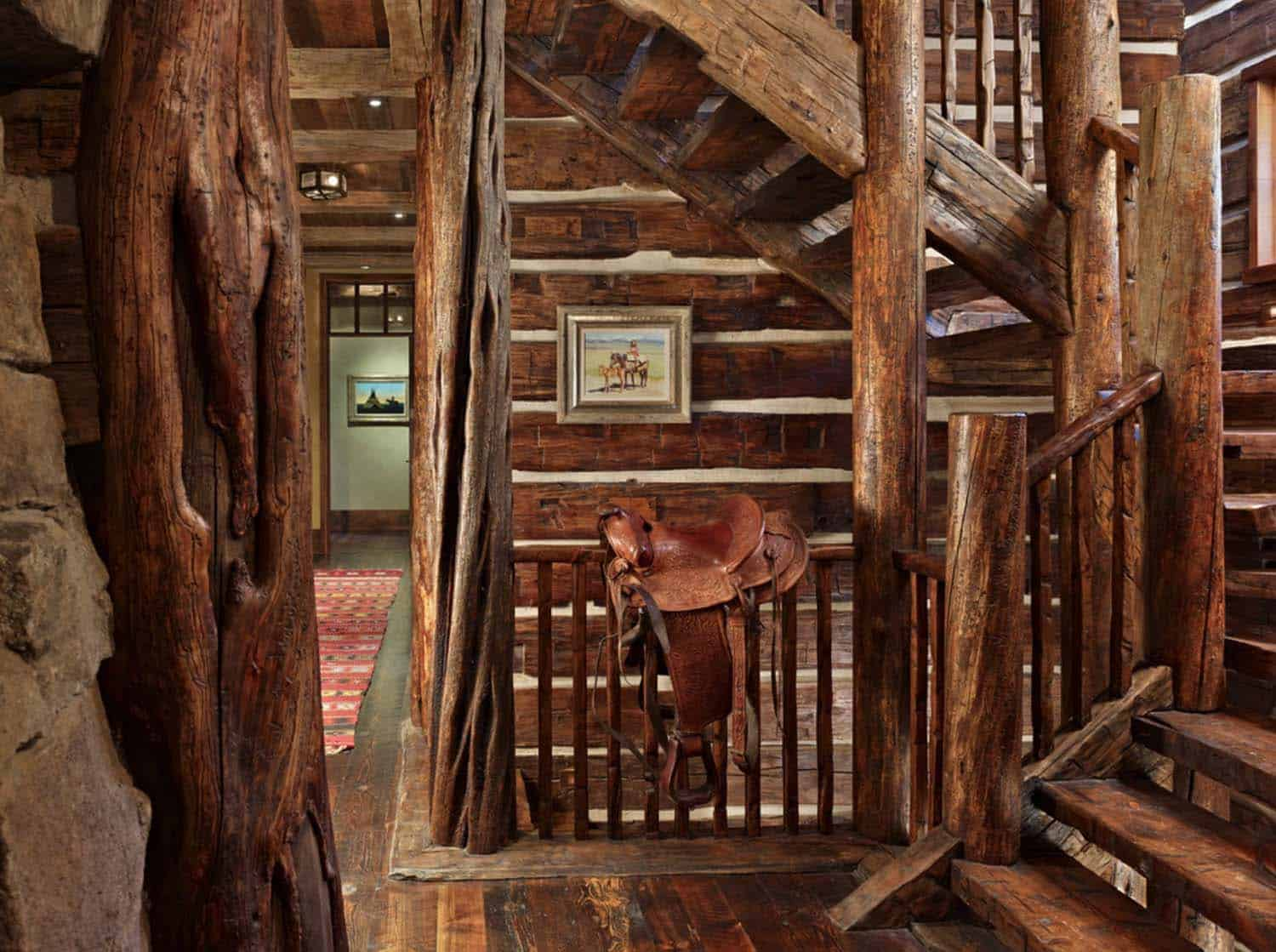 mountain-retreat-rustic-staircase