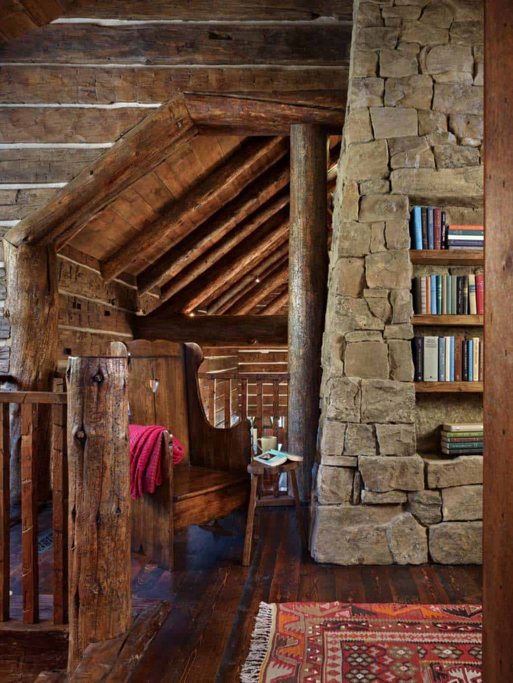 mountian-retreat-rustic-hallway