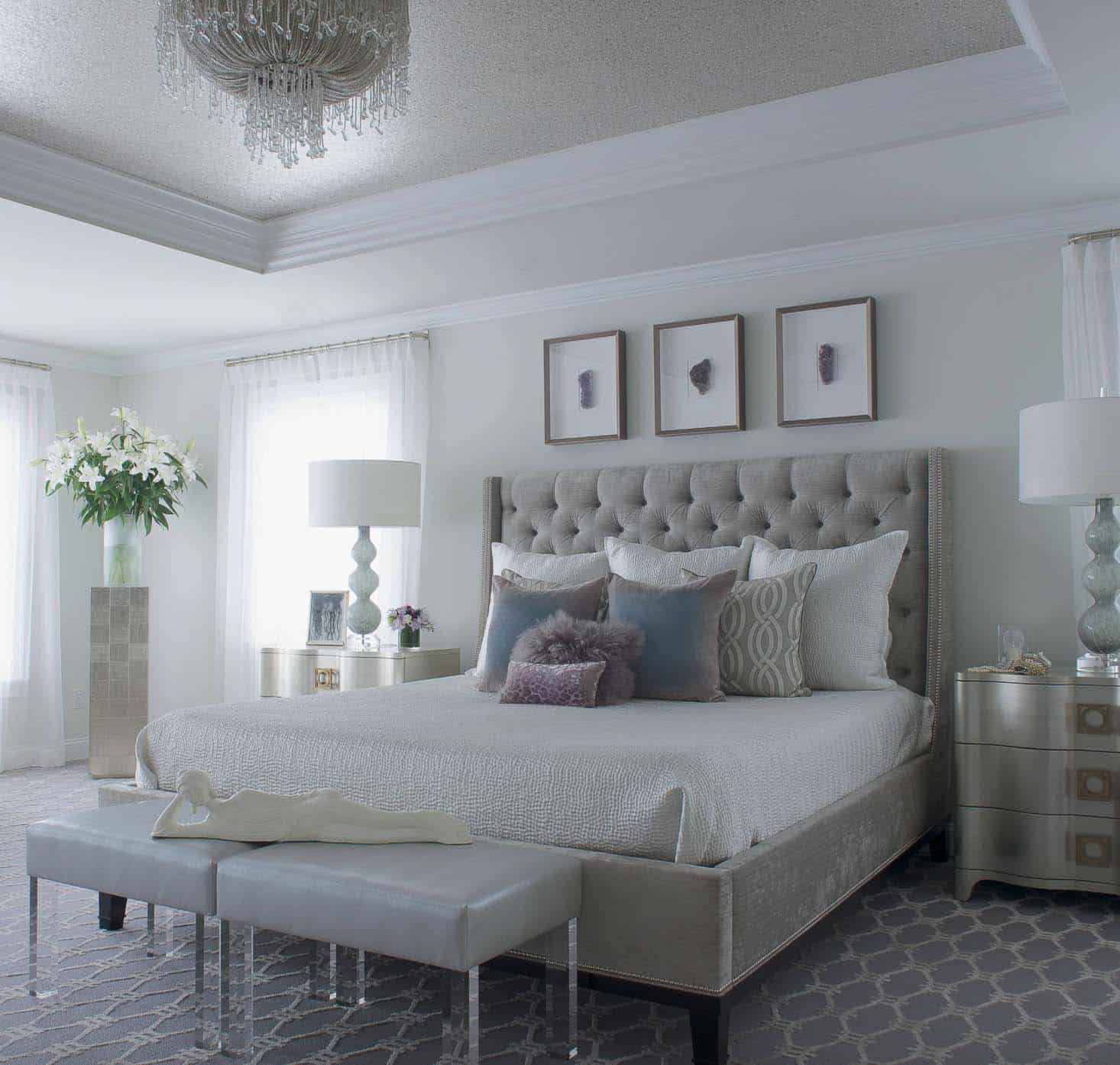 Elegant Serene Master Bedroom Decor