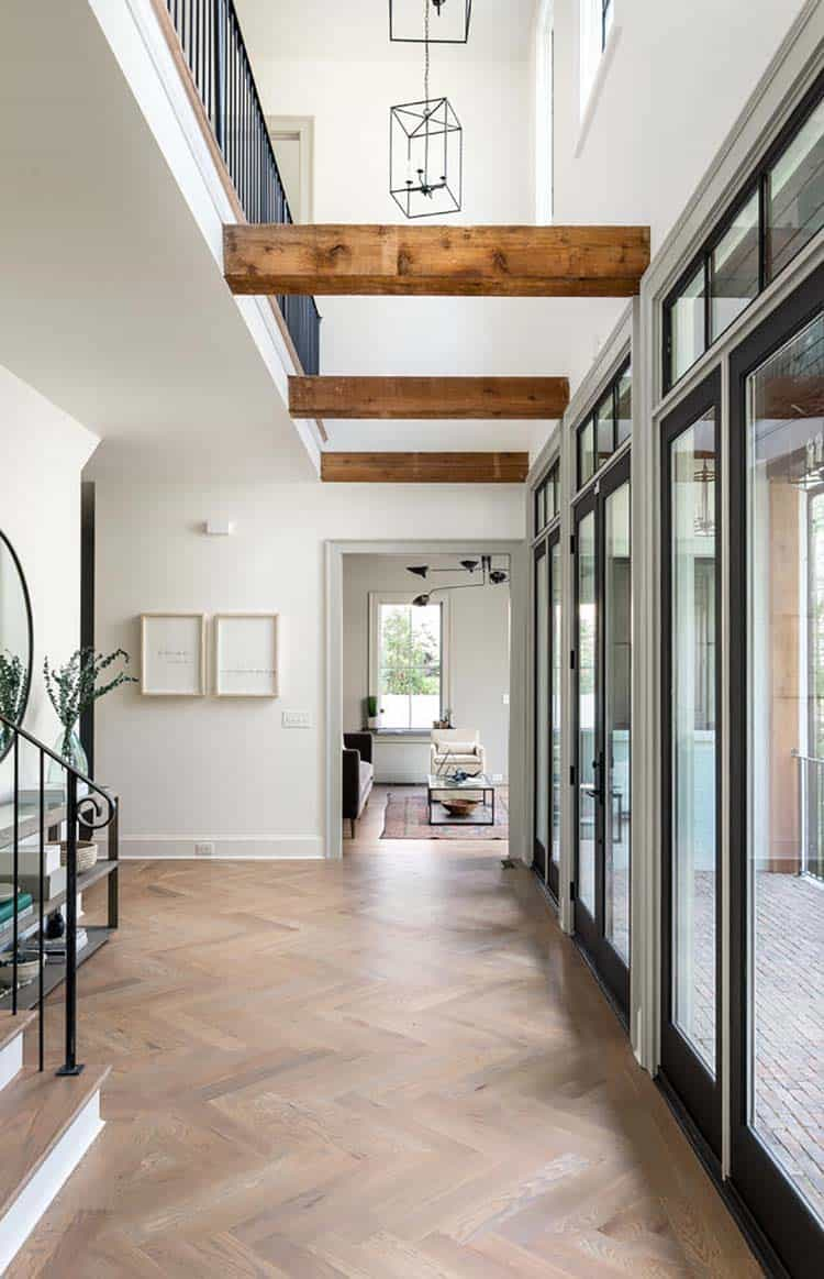 transitional-style-house-entry