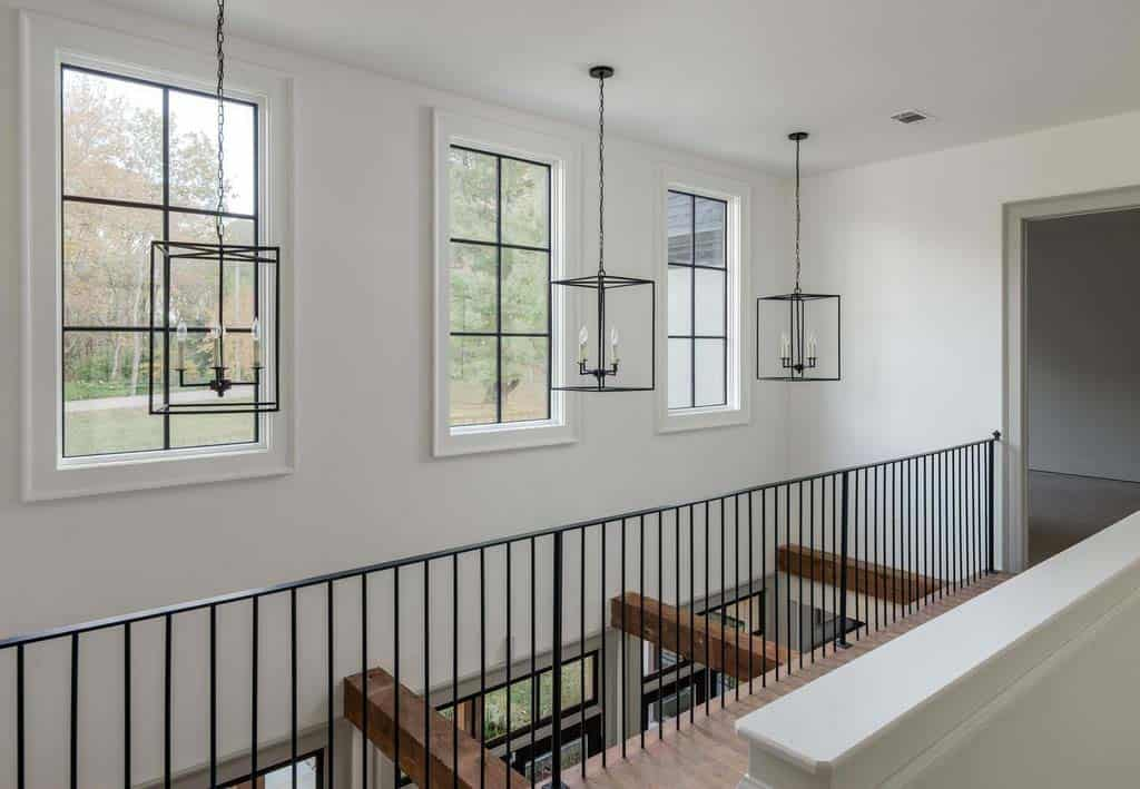 transitional-style-staircase-landing