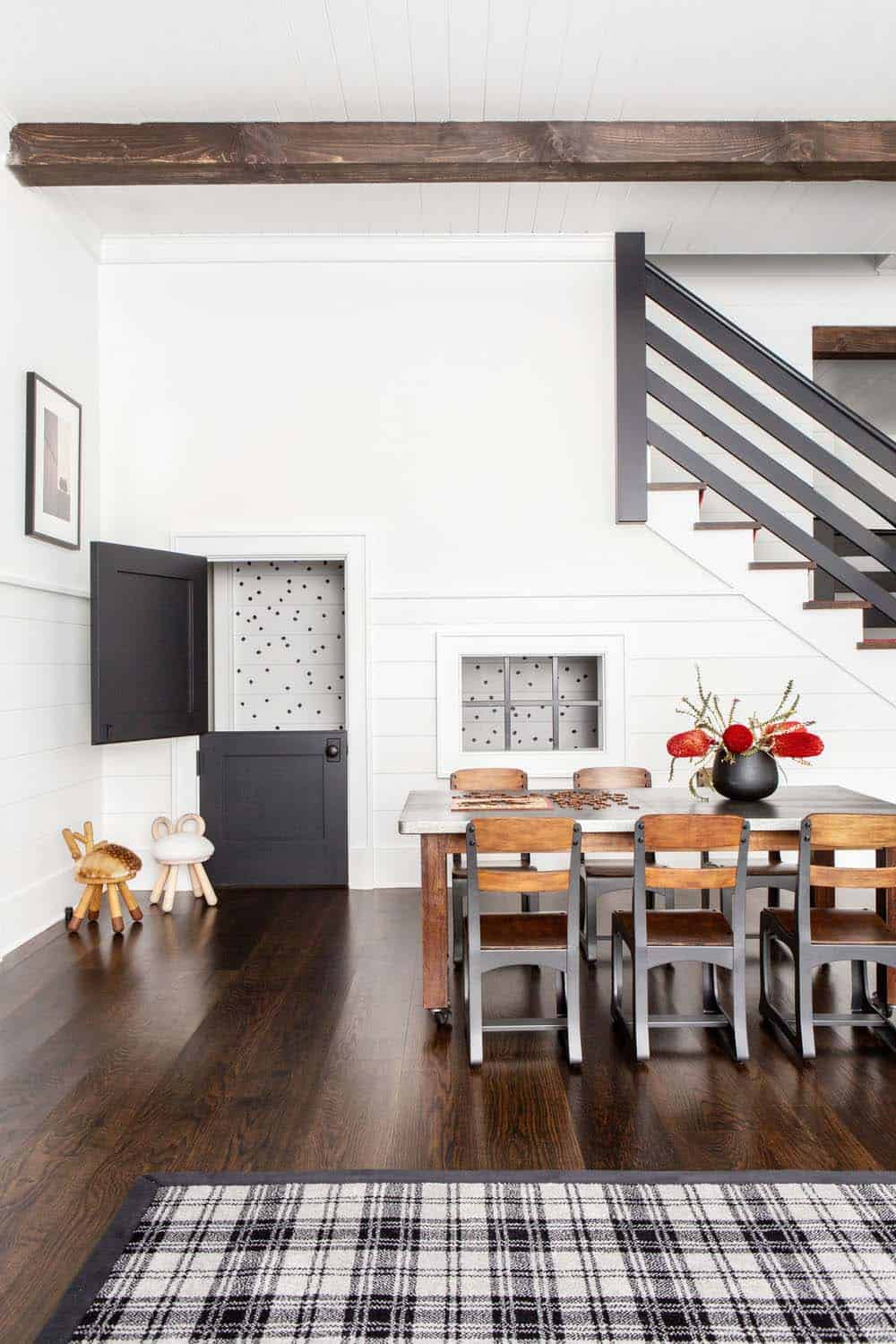 Eclectic Modern Farmhouse With Unexpected Pops Of Color In
