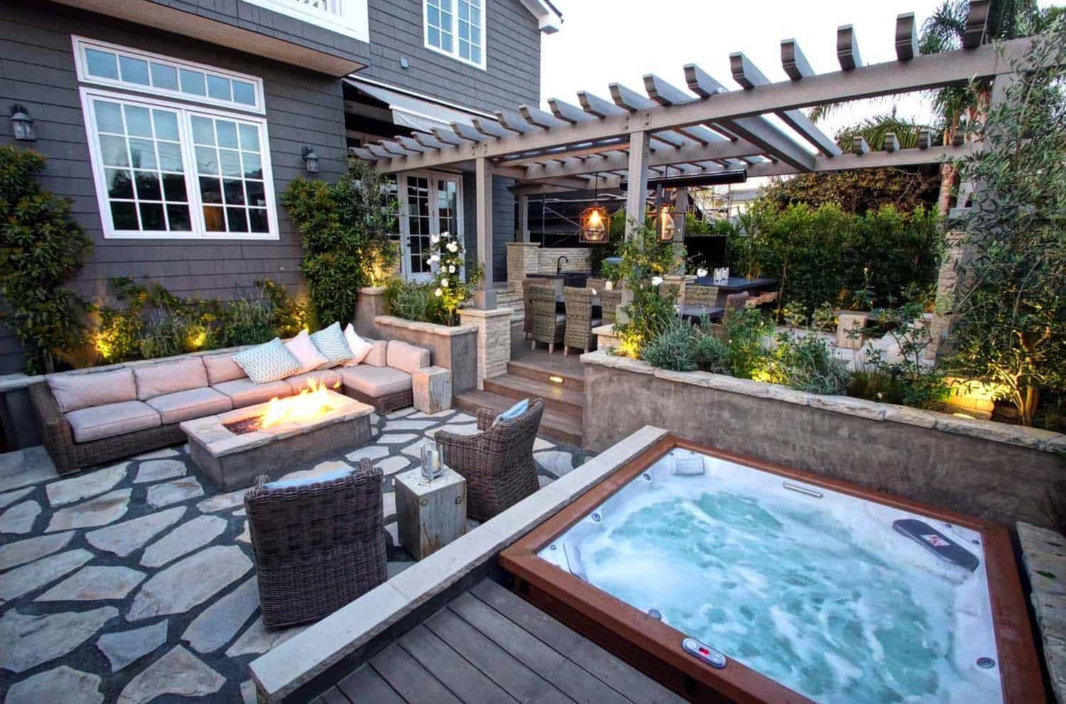 40+ Outstanding Hot Tub Ideas To Create A Backyard Oasis on Small Backyard Oasis Ideas id=74573
