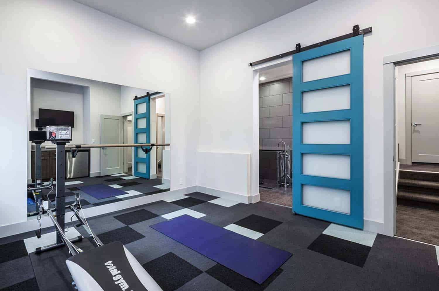 contemporary-hillside-home-gym