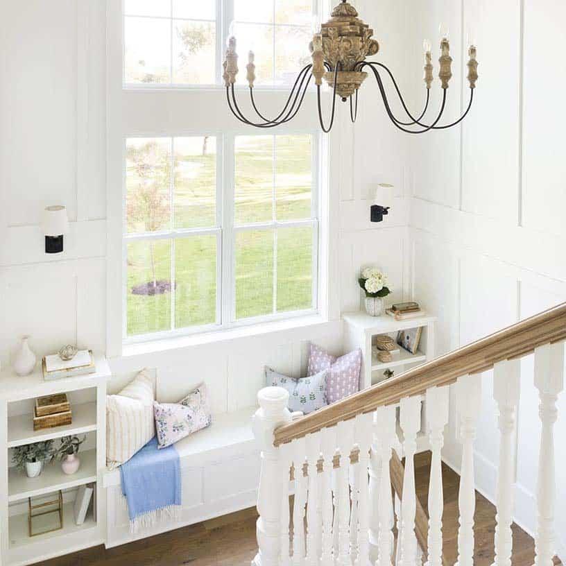 farmhouse-style-staircase-landing-window-seat