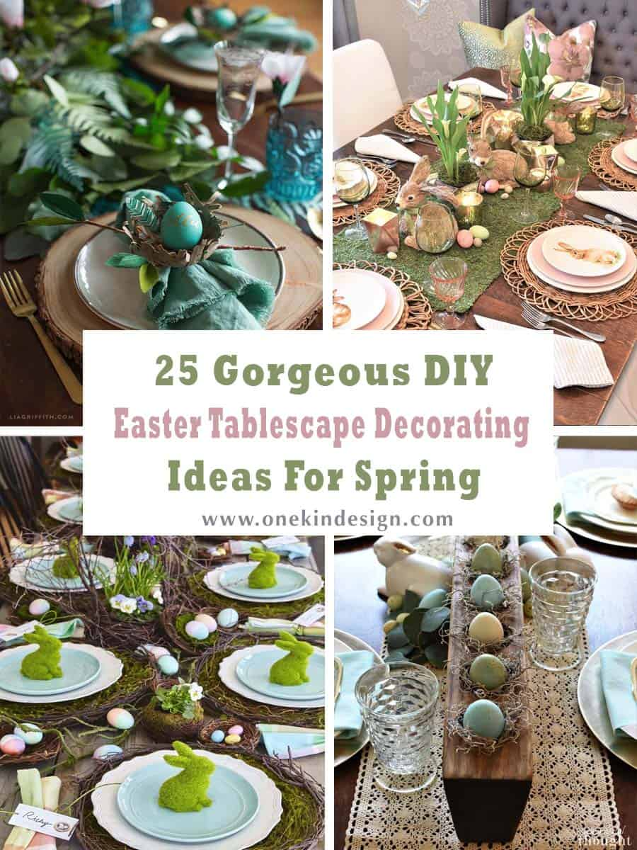 25 Gorgeous DIY Easter Tablescape Decorating Ideas For ...