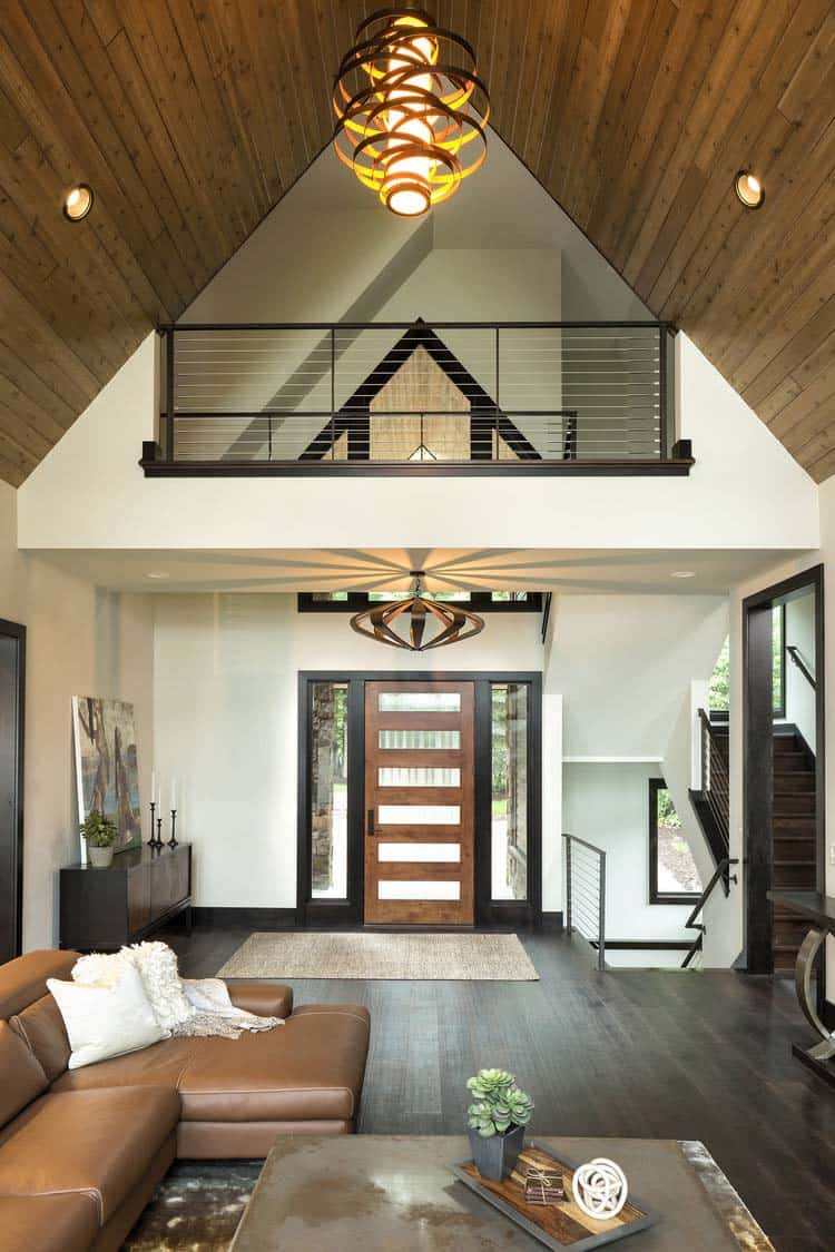 rustic-contemporary-lake-house-entry