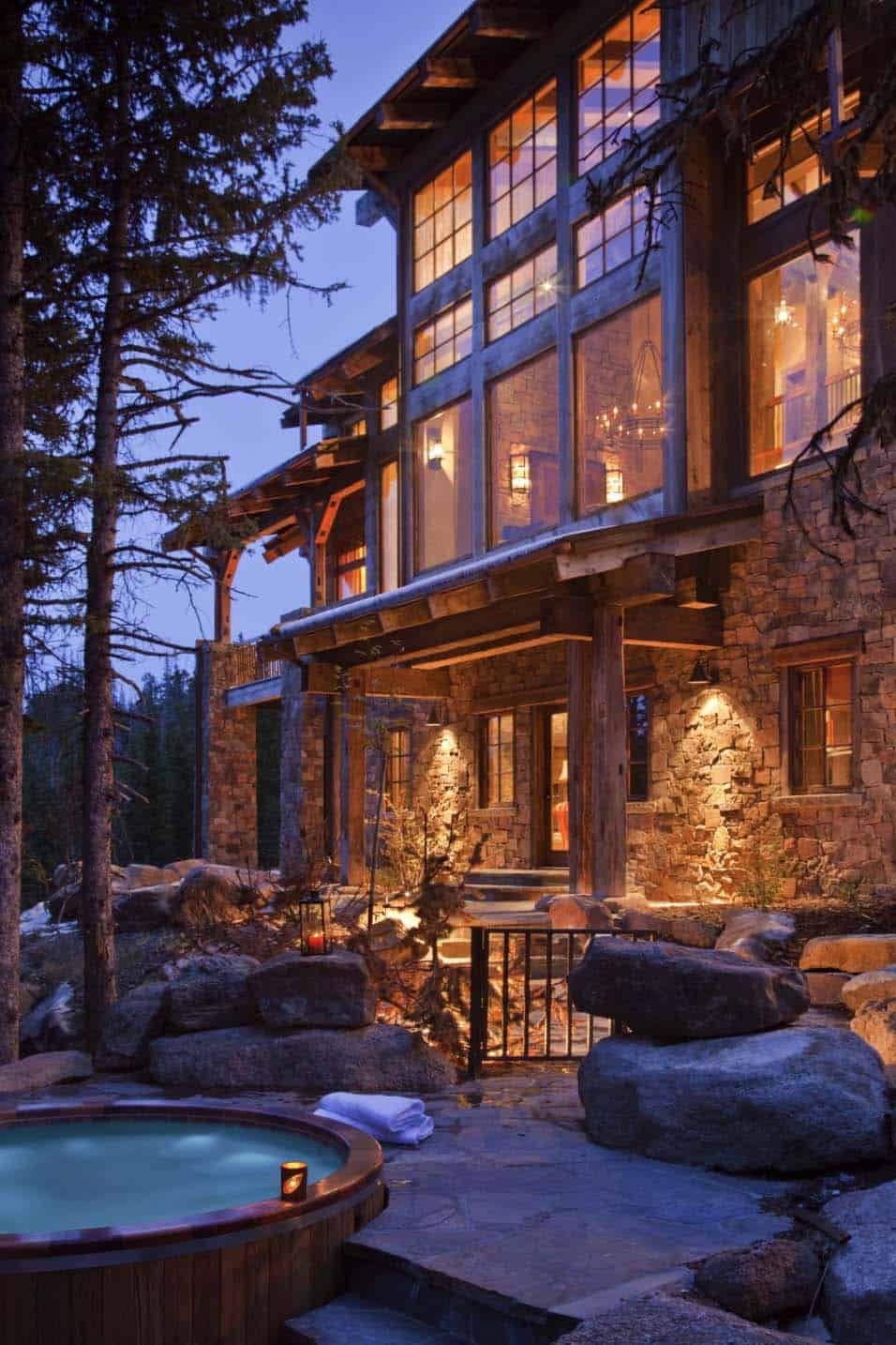 Cozy Mountain Hideaway With Charming Modern Rustic Style