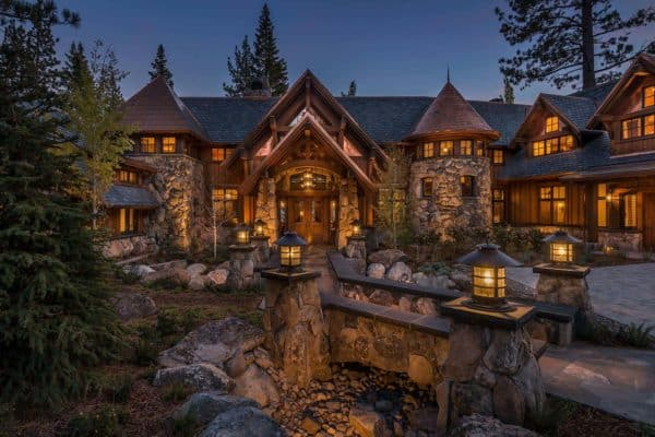 featured posts image for Stunning lodge style home with old world luxury overlooking Lake Tahoe