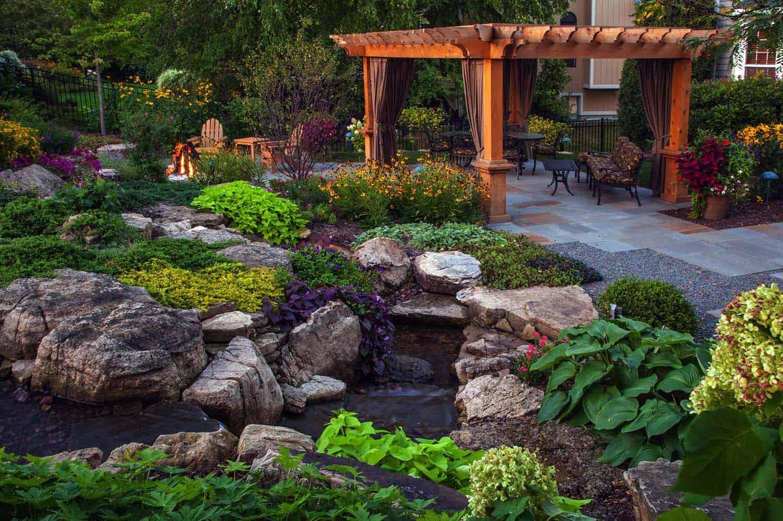 backyard-patio-pergola-waterfall