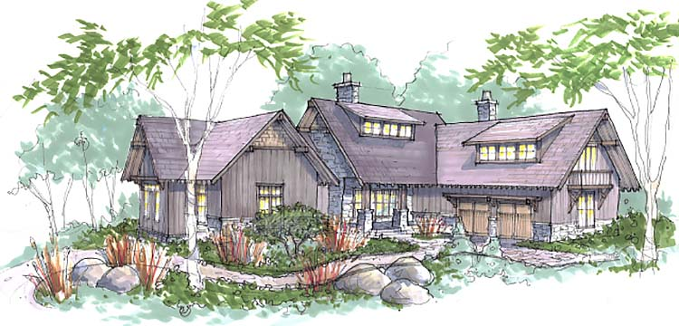mountain-rustic-home-sketch
