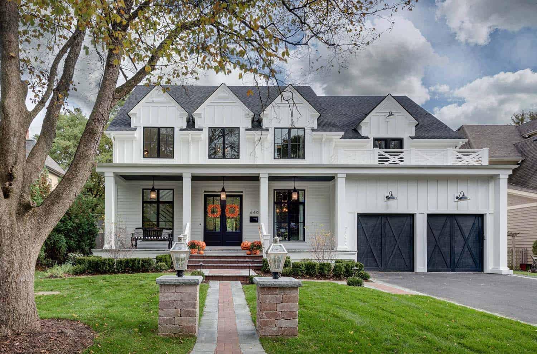 cool modern farmhouse exterior | Gorgeous modern farmhouse style home in Illinois delights ...