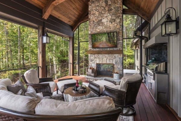 featured posts image for Warm and inviting mountain rustic lake home nestled on Lake Keowee