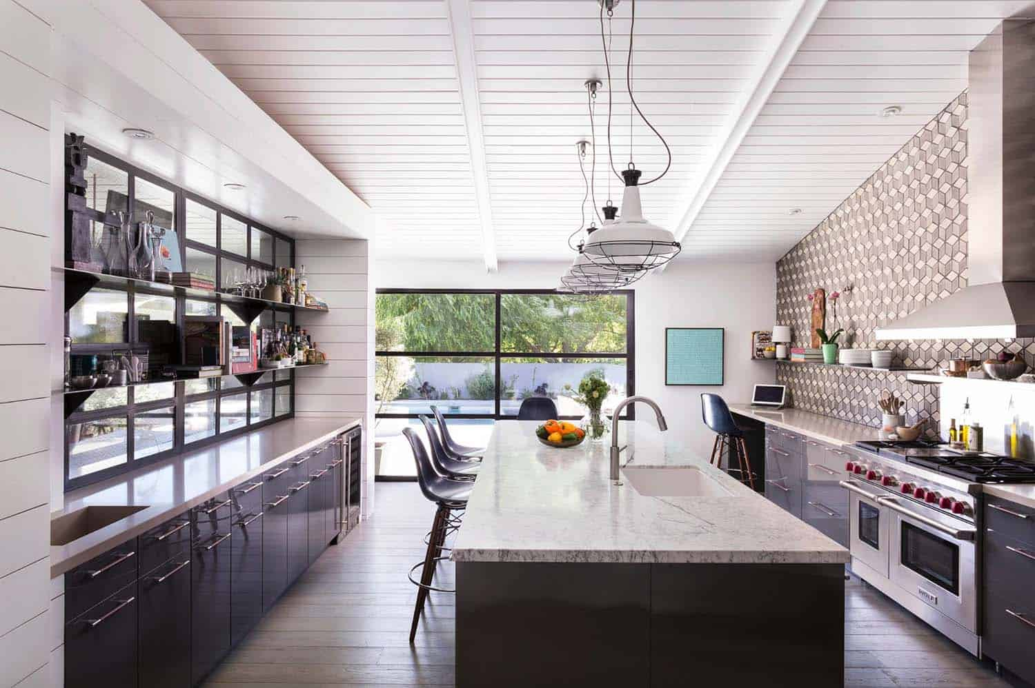 Inside a ranch house with a mid century modern twist in - Modern ranch home interior design ...