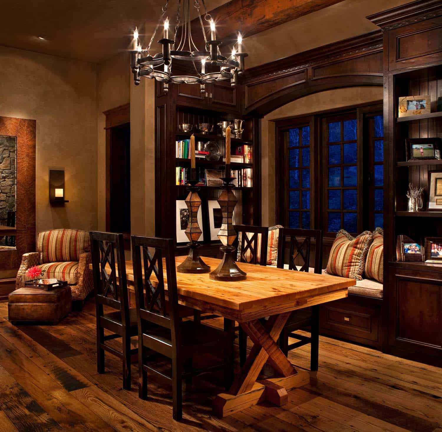 rustic-contemporary-home-library