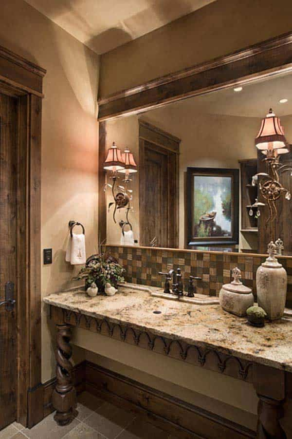 rustic-powder-bathroom