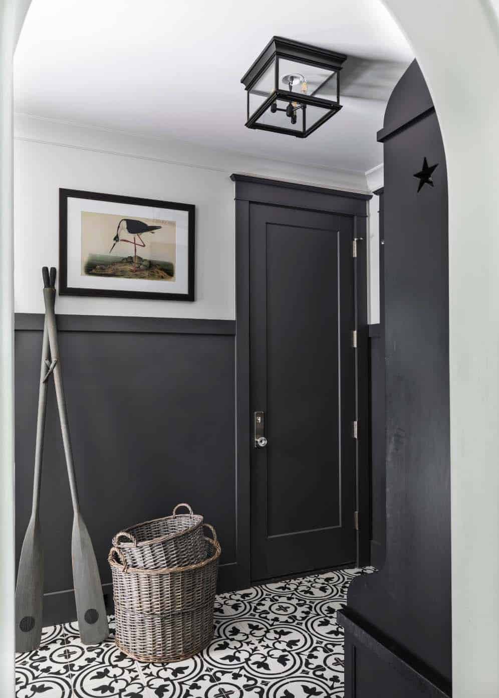mudroom-with-eclectic-details-beach-style-hall