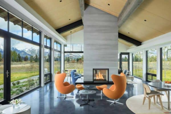 featured posts image for Mountain home with mid-century styling boasts Grand Teton views