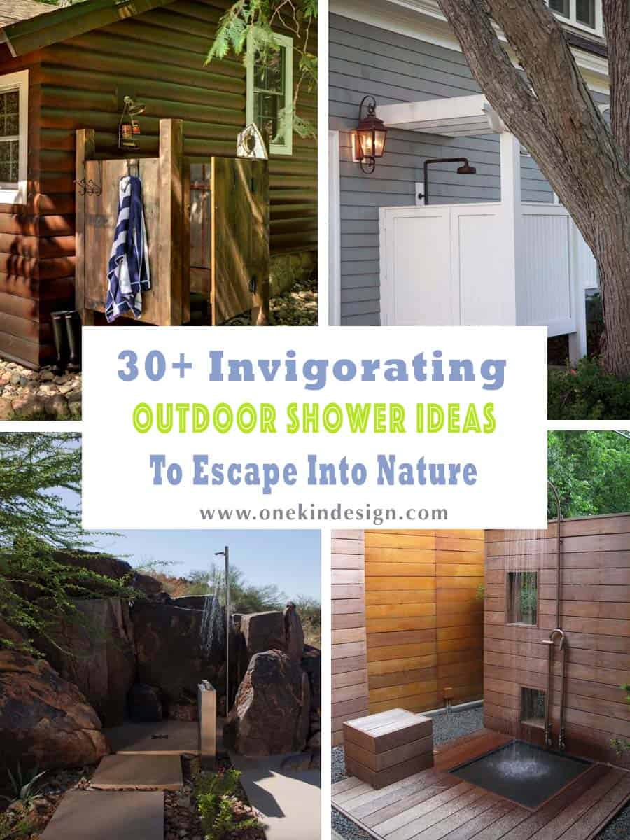 Admirable 30 Invigorating Outdoor Shower Ideas To Escape Into Nature Bralicious Painted Fabric Chair Ideas Braliciousco