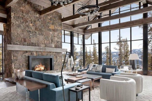 featured posts image for Modern ski home in Montana boasts views of snow-capped mountains
