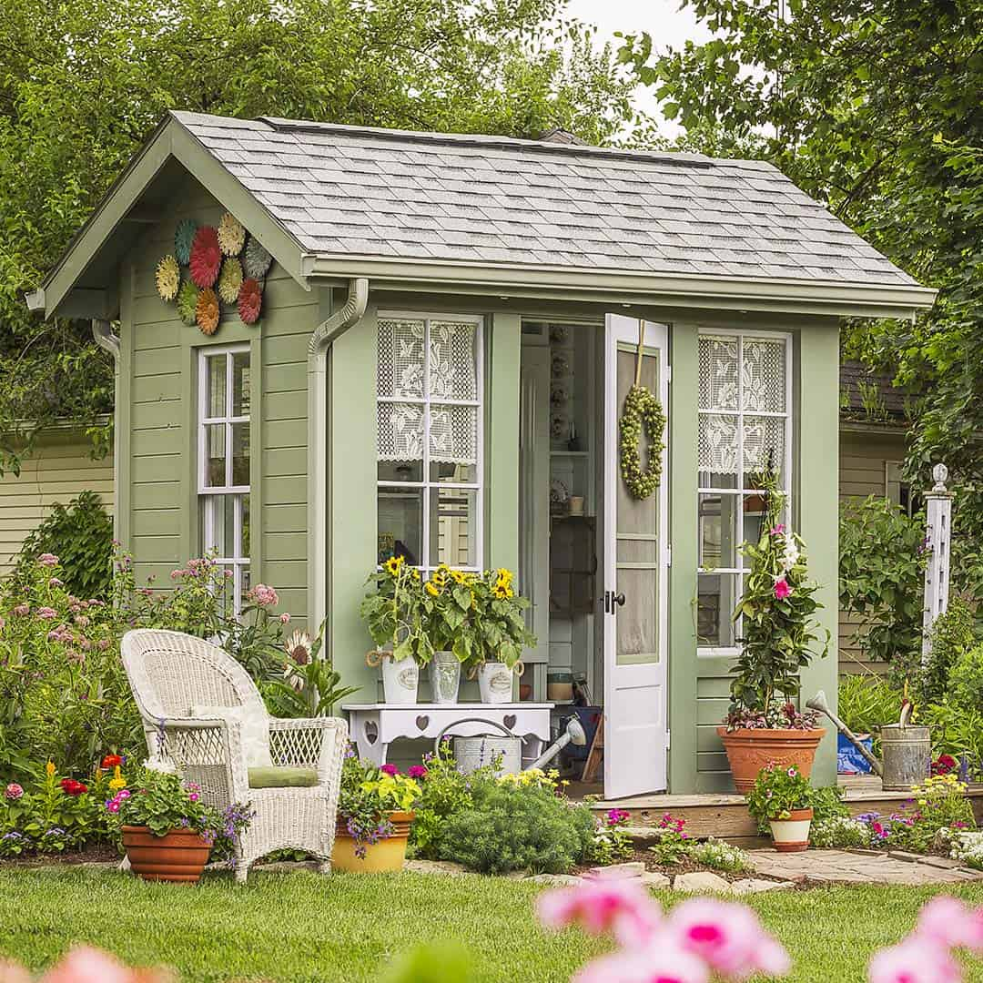 30 Absolutely Enchanting Garden Shed Hideaways on Cottage Yard Ideas id=92523