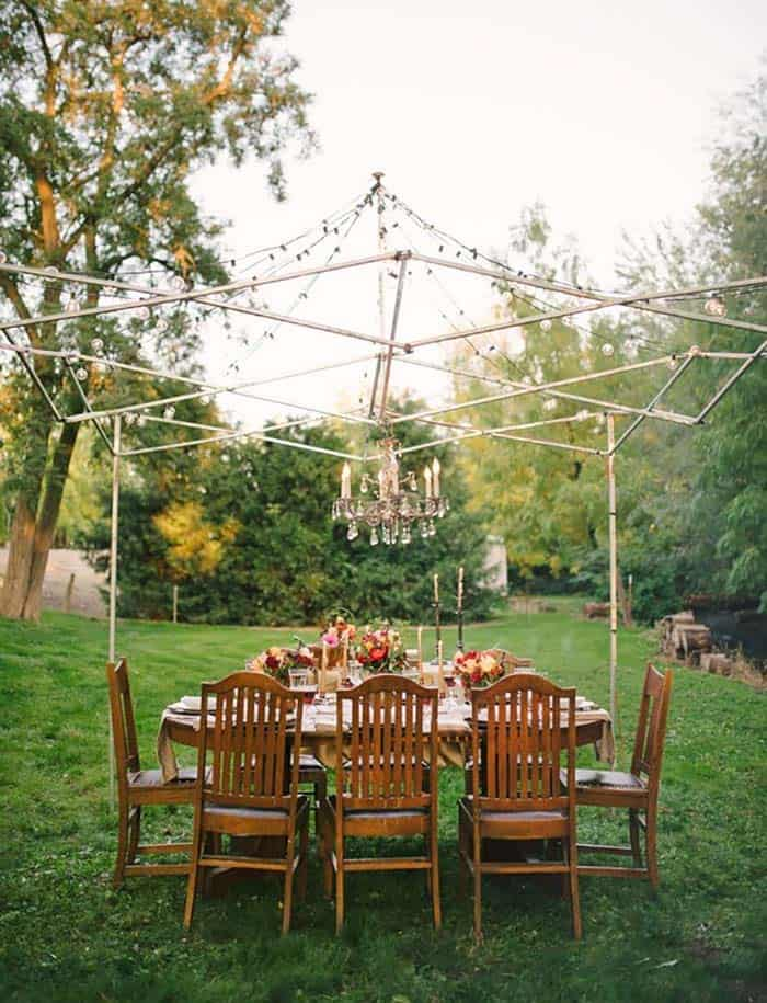 summer-garden-party-idea-chandelier-string-lights