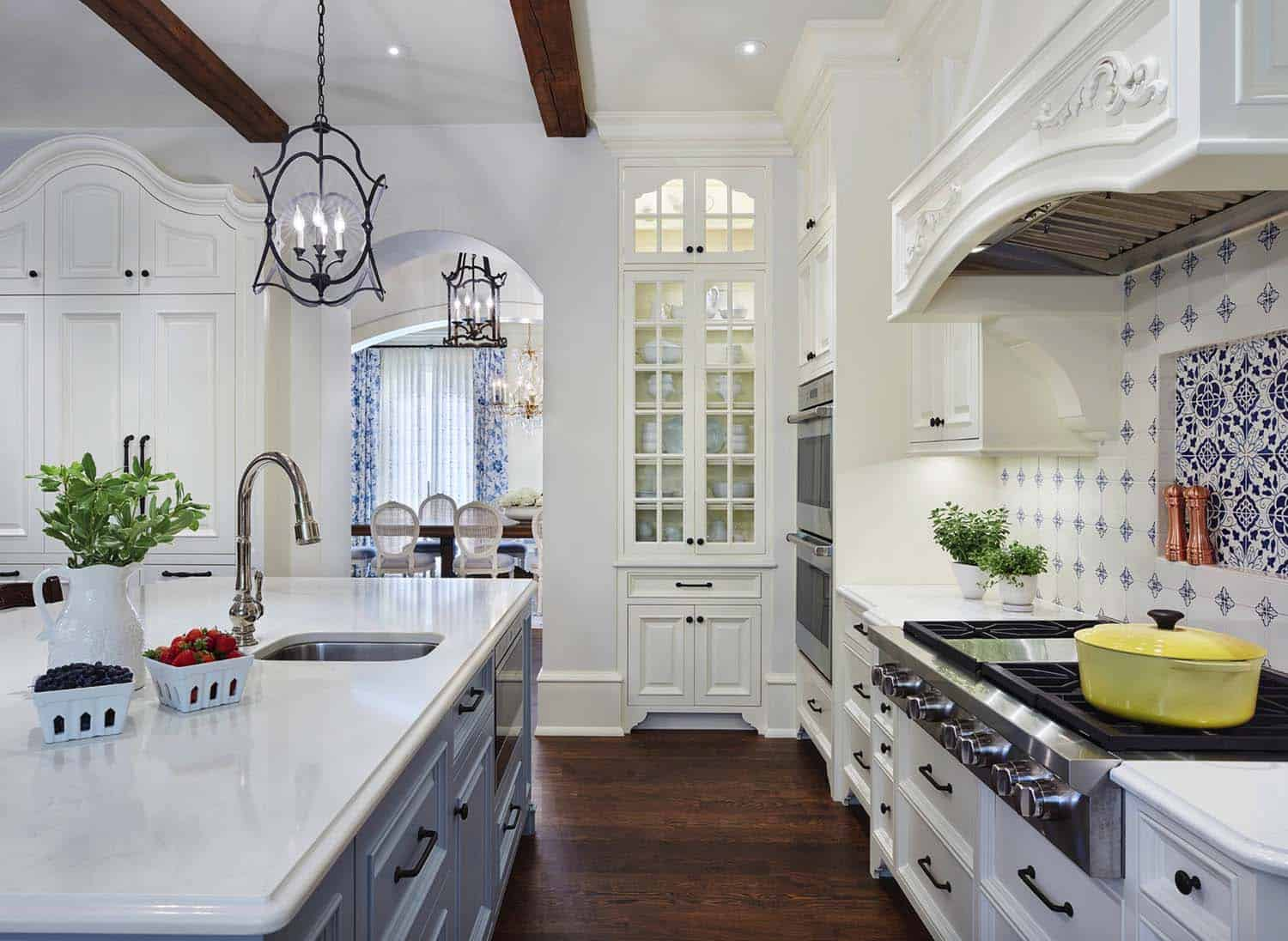 french-country-estate-traditional-kitchen