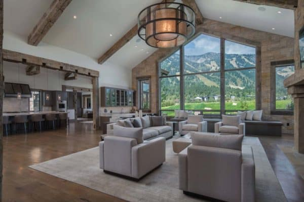 featured posts image for Modern meets rustic in this exquisite Wyoming mountain home