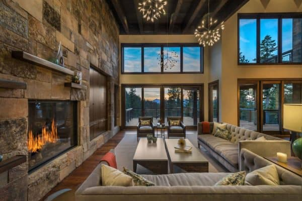 featured posts image for Inside an incredible slope-side sanctuary with rustic touches in Tahoe