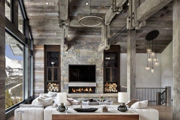 featured posts image for Modern-rustic home set amidst the grandeur of the Rocky Mountains