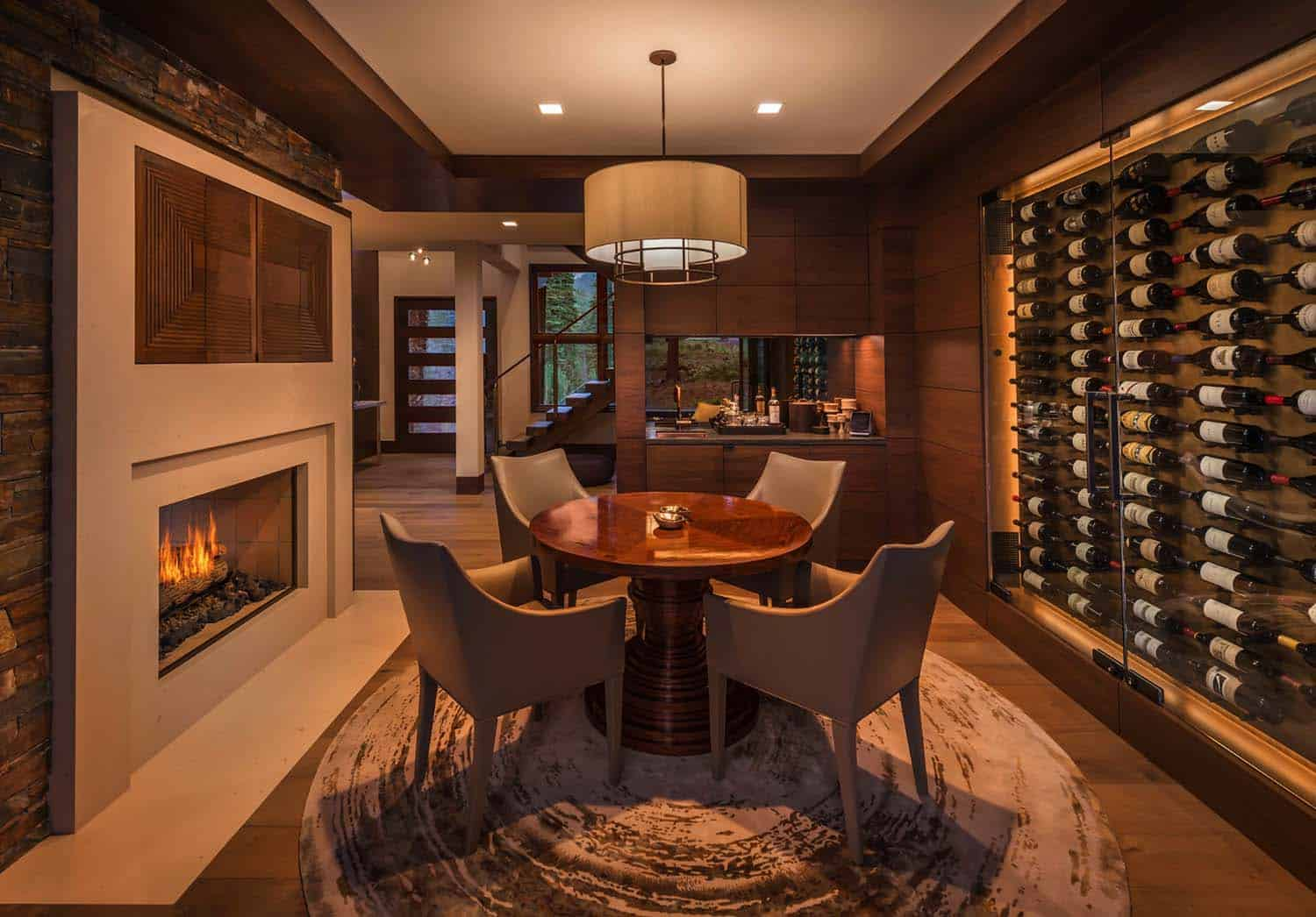 contemporary-poker-room-wine-wall