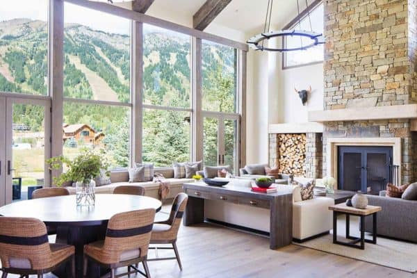 featured posts image for Extraordinary mountain modern timber frame home in Jackson Hole