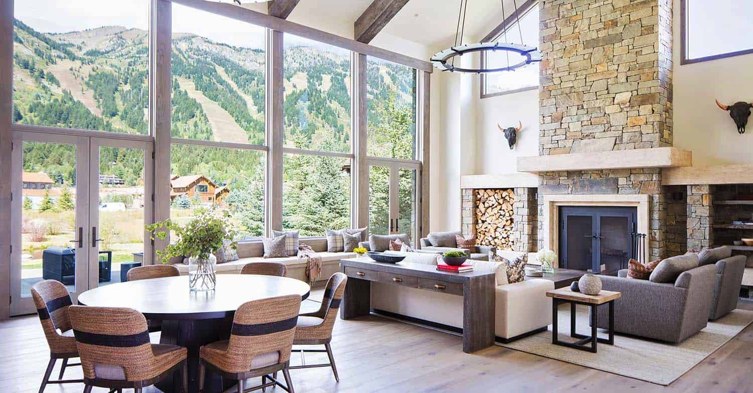 Extraordinary mountain modern timber frame home in Jackson Hole