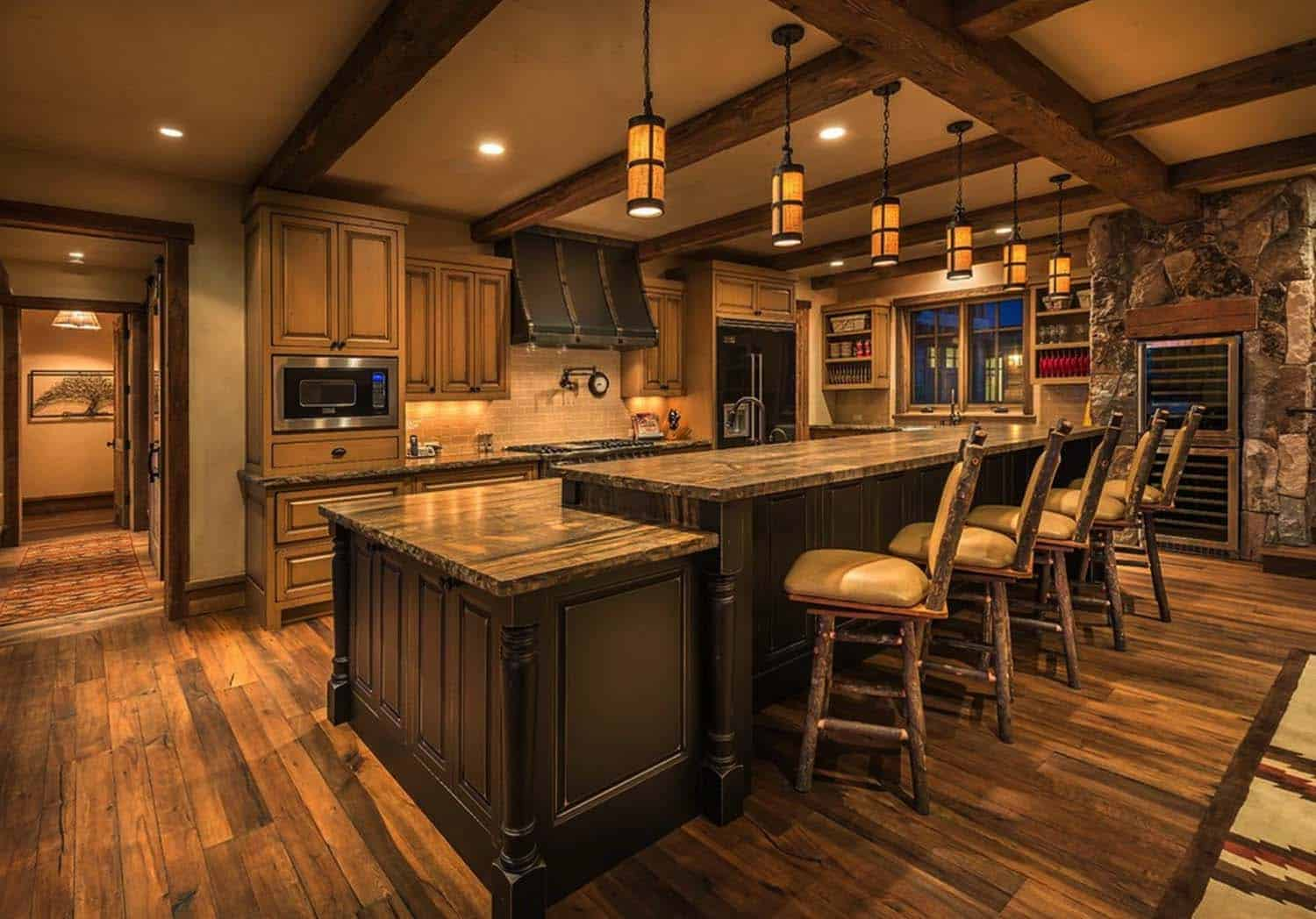 rustic-lakefront-mountain-cabin-kitchen