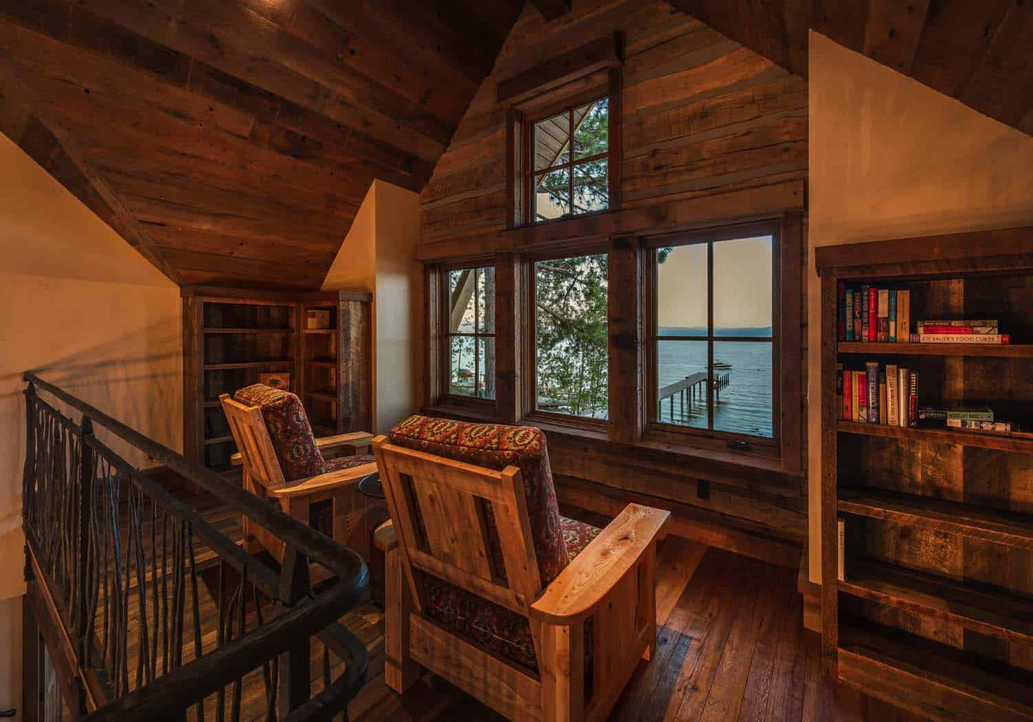 lake-house-rustic-reading-loft
