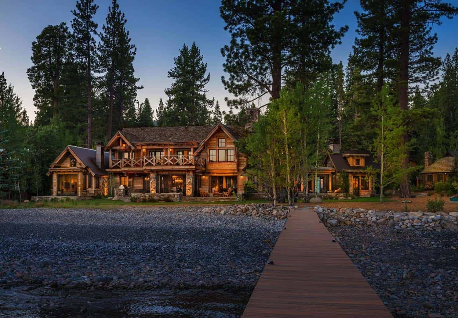 rustic-lakefront-mountain-cabin-exterior