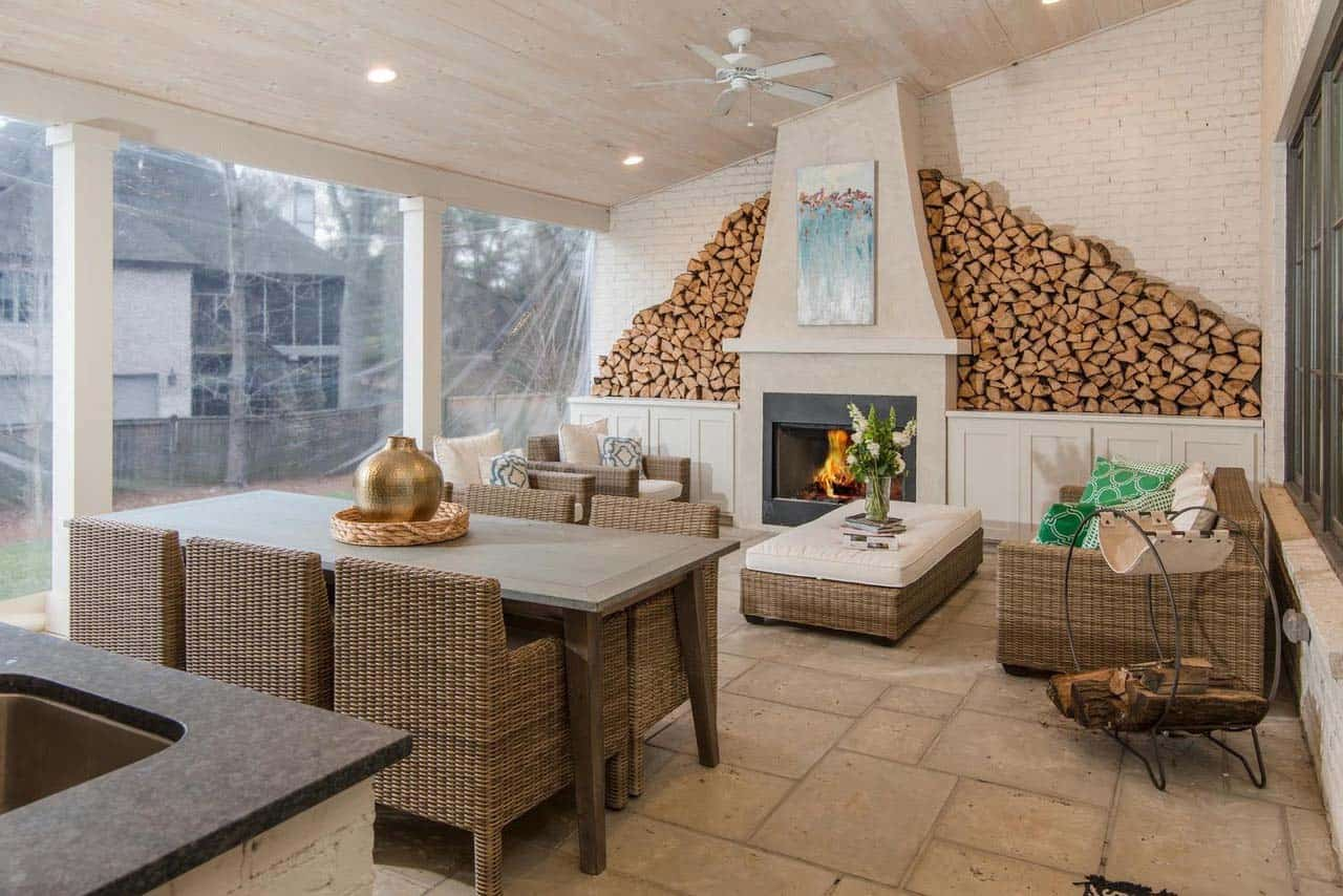 transitional-home-outdoor-covered-patio-fireplace