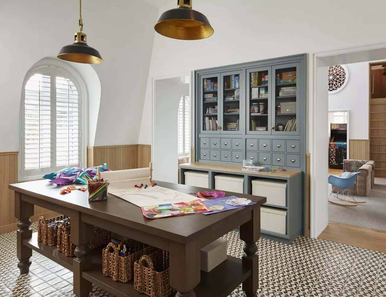 transitional-traditional-kids-craft-room-lincoln-park