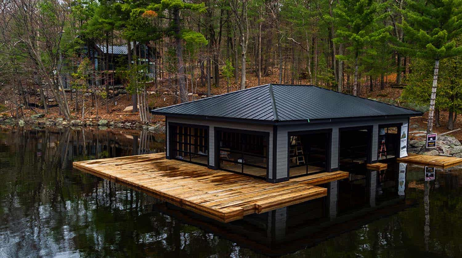 contemporary-lake-house-boathouse