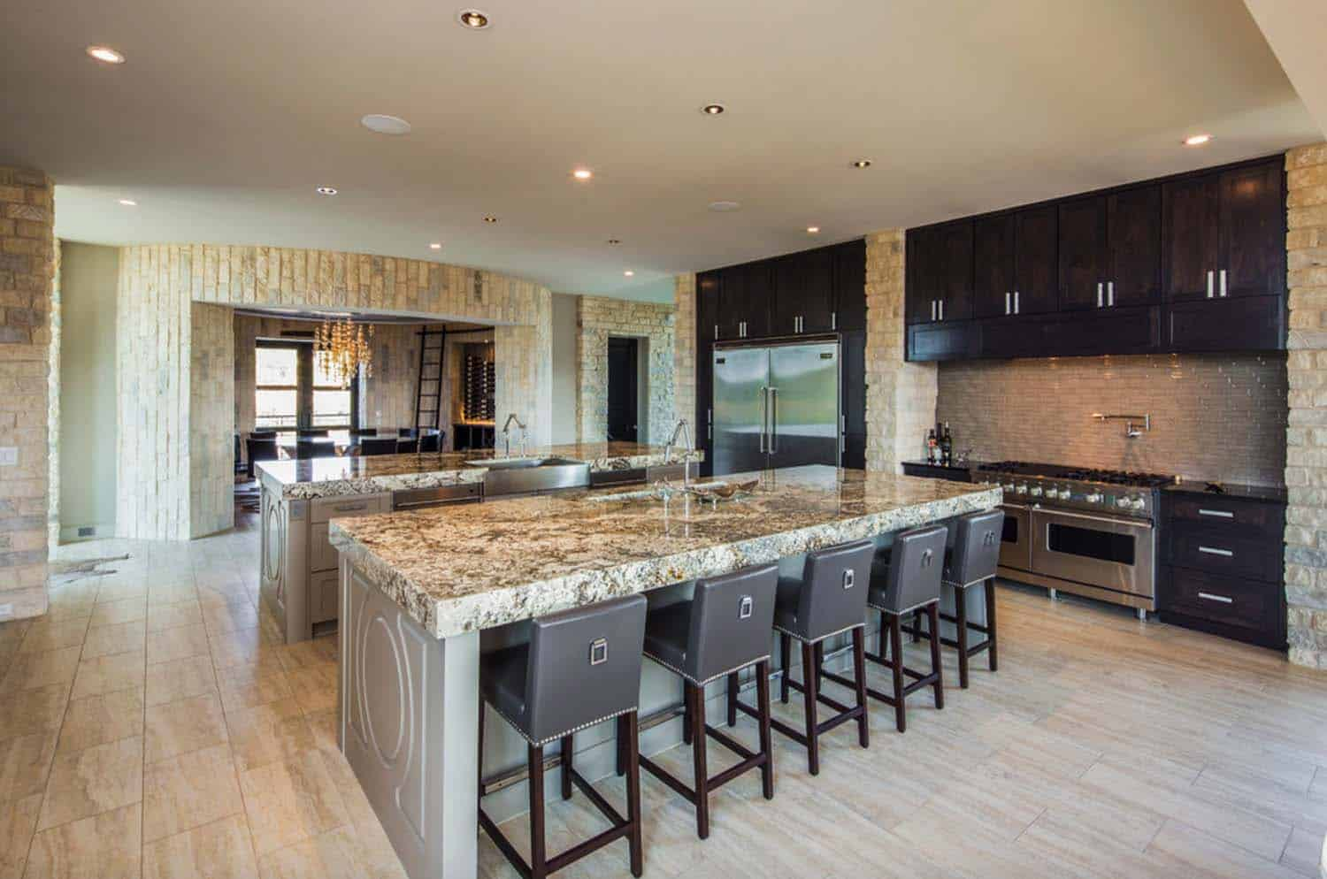 open-kitchen-and-wine-room-contemporary-kitchen
