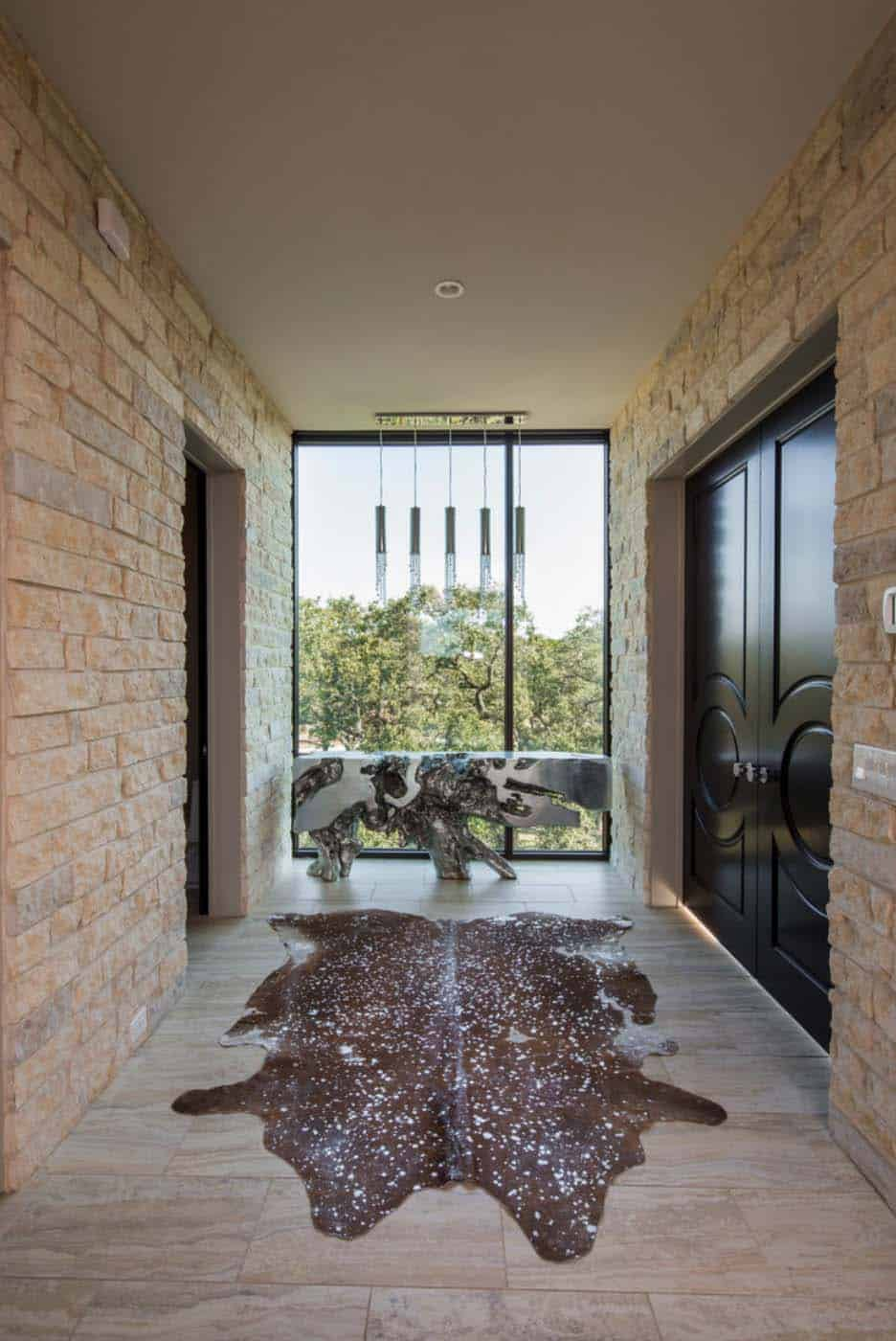 stone-hallway-contemporary-hall