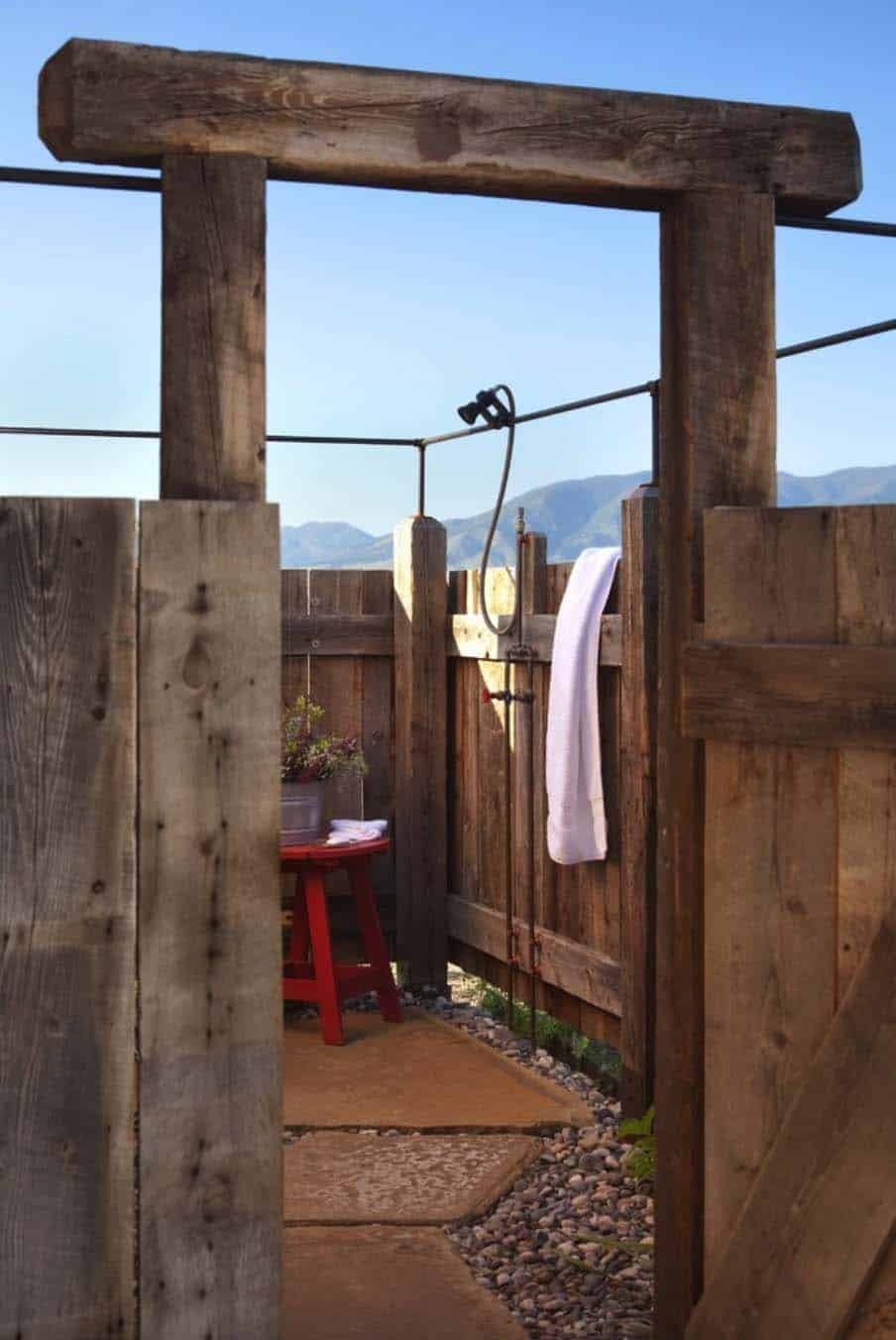family-cabin-retreat-rustic-outdoor-shower