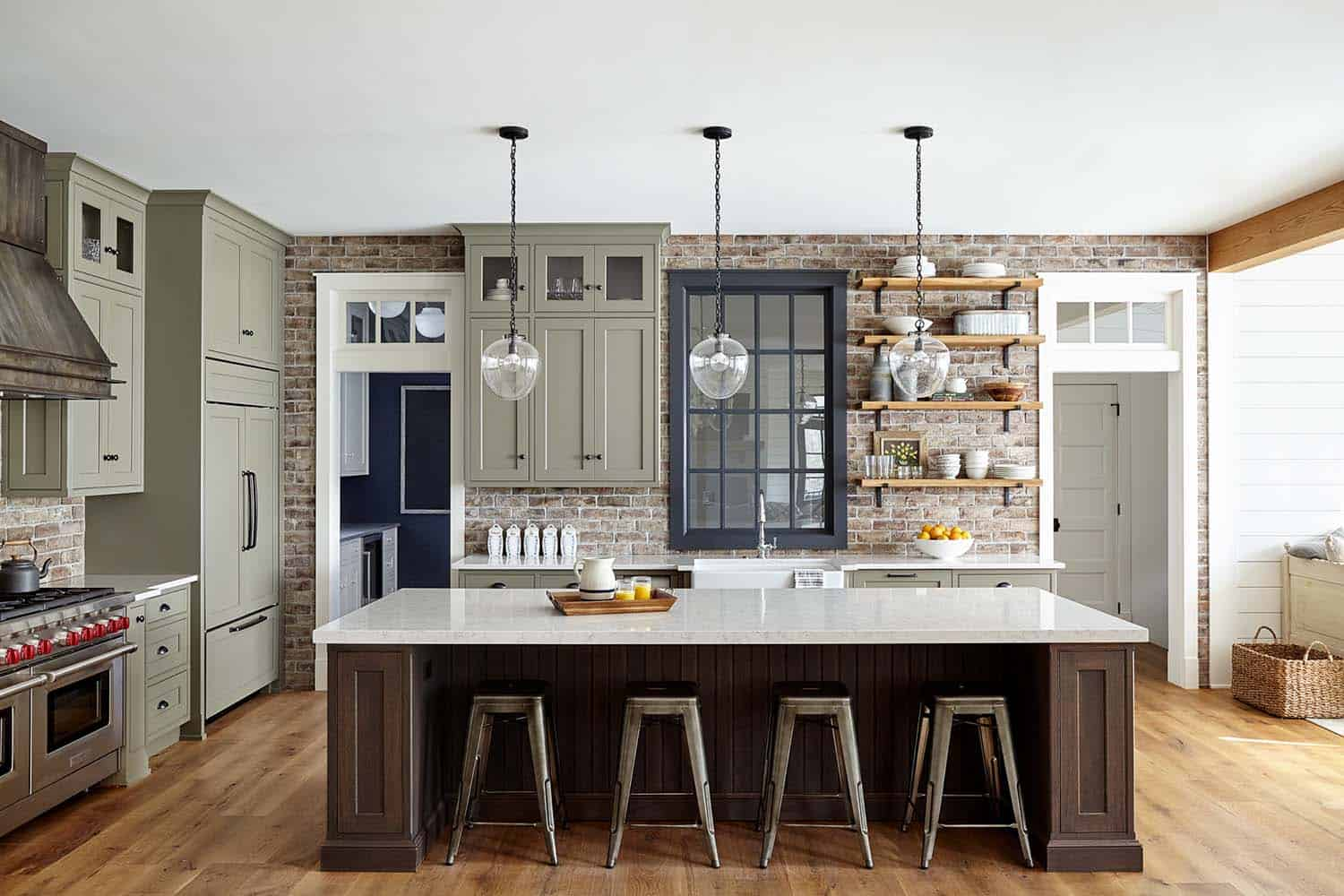 Country Farmhouse With Warm And