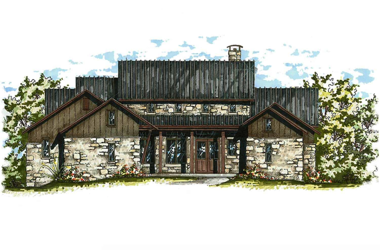 farmhouse-style-house-sketch