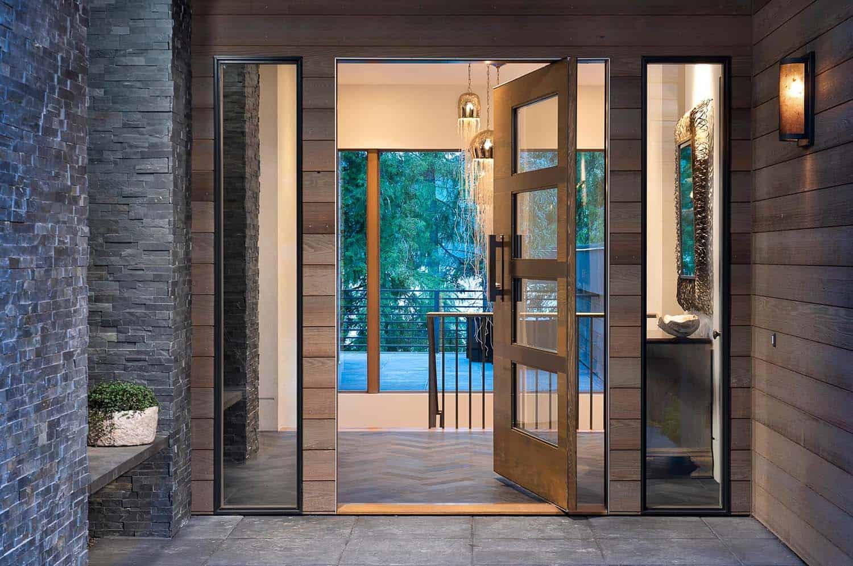 modern-lake-house-entry